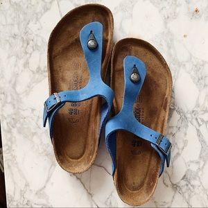 Birkenstock Blue Gizeh One Strap Sandal